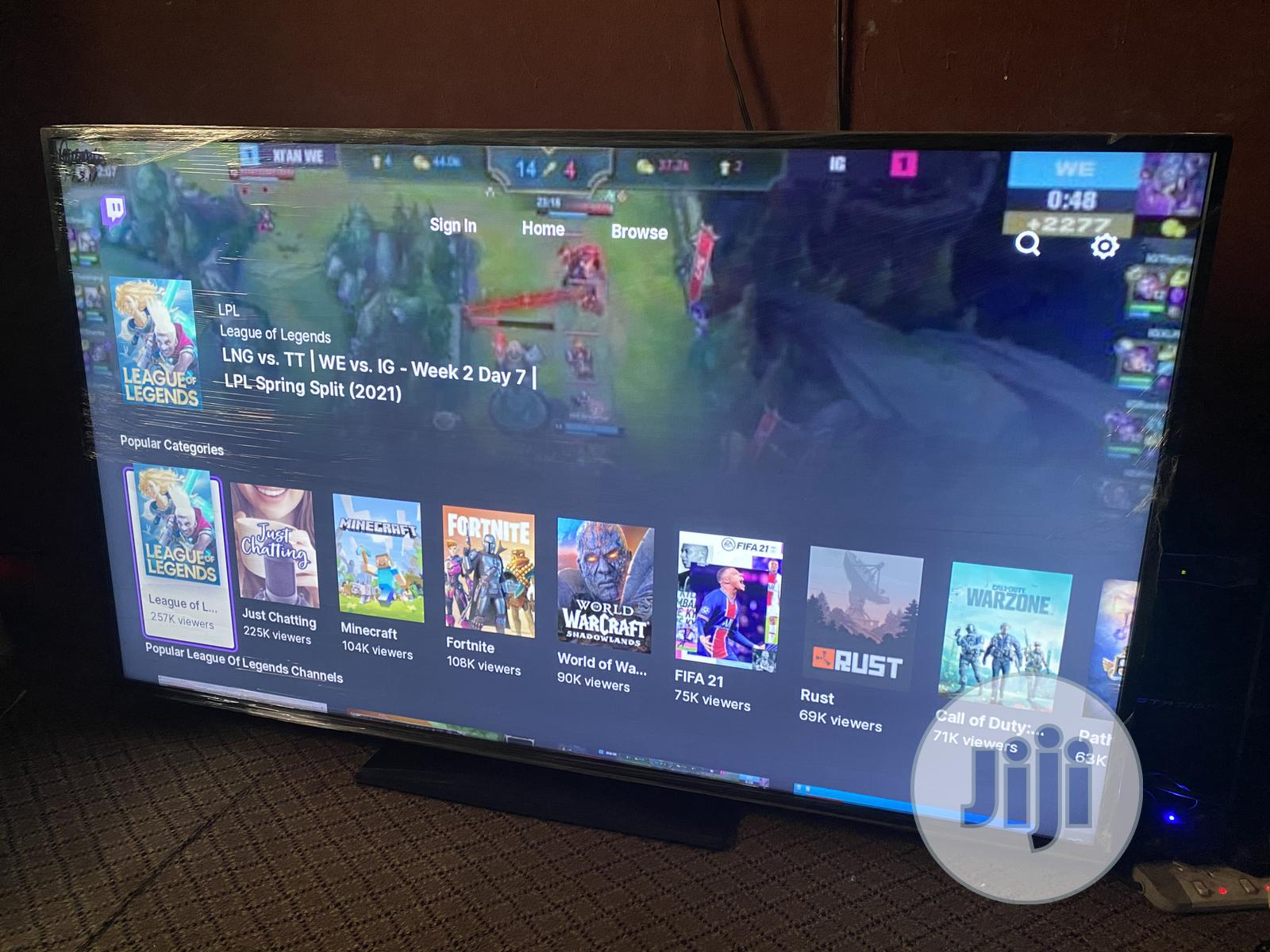 Hitachi 58inch 4K Uhd Hdr LED Smart TV   TV & DVD Equipment for sale in Ojo, Lagos State, Nigeria
