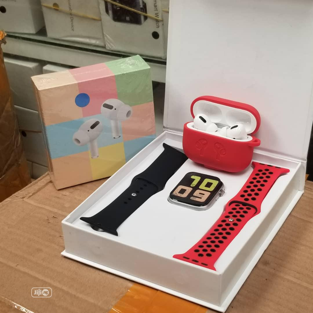 T500 Smartwatch Ad Airpod Pro | Smart Watches & Trackers for sale in Ikeja, Lagos State, Nigeria