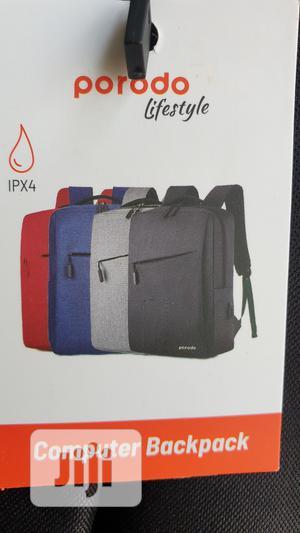 "Porodo 15.6"" Backpack Nylon Fabric - Black, Blue   Bags for sale in Lagos State, Ikeja"