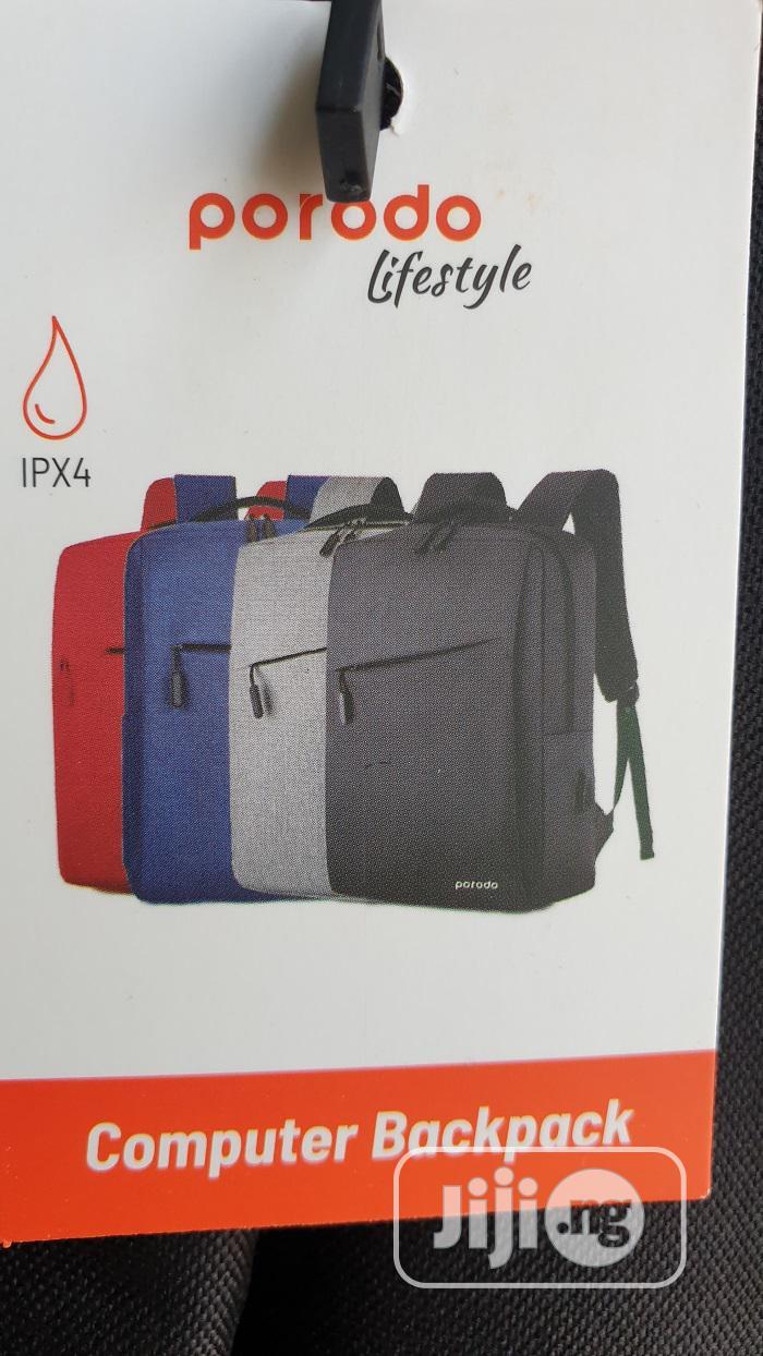 """Porodo 15.6"""" Backpack Nylon Fabric - Black, Blue"""