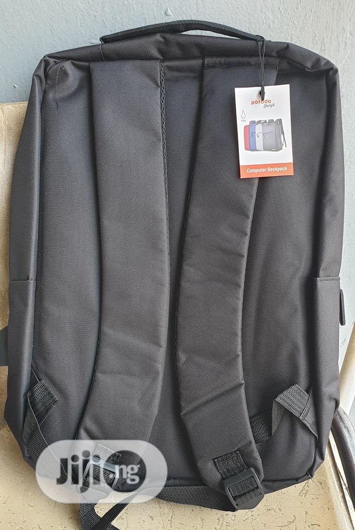 "Porodo 15.6"" Backpack Nylon Fabric - Black, Blue   Bags for sale in Ikeja, Lagos State, Nigeria"