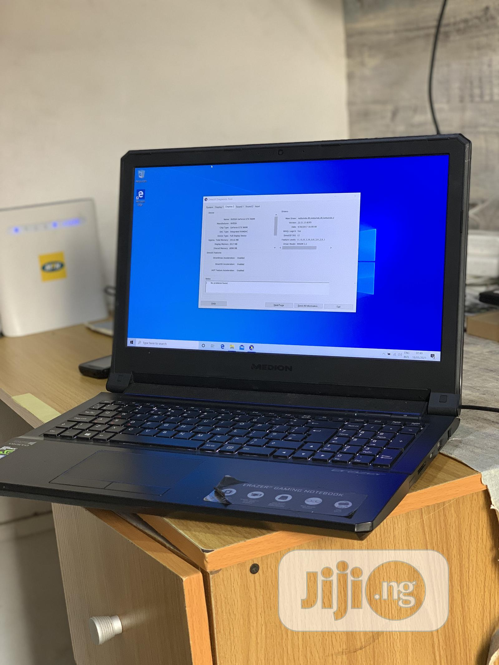 Laptop Medion 16GB Intel Core i7 SSHD (Hybrid) 1T