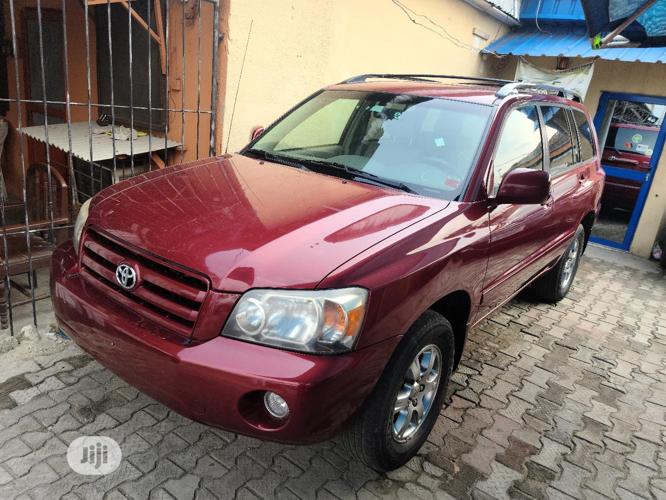 Toyota Highlander 2004 V6 AWD Red   Cars for sale in Surulere, Lagos State, Nigeria
