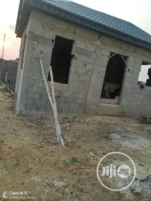 Half Plot of Land With Unconpleted Mini Flat at Owode Addo   Land & Plots For Sale for sale in Ajah, Ado / Ajah