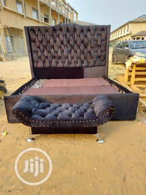 Well Designed 6by6 Upholstery Bedframe With Footrest | Furniture for sale in Lagos State, Ajah