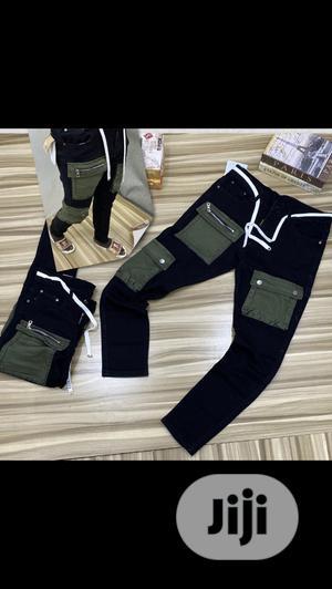 Combat Jeans in Black Designs,Blue Combat Jeans Swipe   Clothing for sale in Lagos State, Eko Atlantic