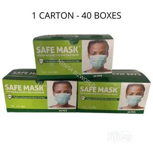 Safe Mask Disposable Protective Face Mask - 1 Carton | Medical Supplies & Equipment for sale in Lagos State, Kosofe