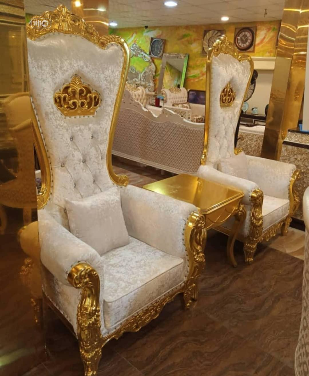 Imported Turkey Royal King And Queen Palace Chairs Set