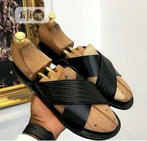 Classic Male Black Palm Slippers   Shoes for sale in Lagos State, Ifako-Ijaiye