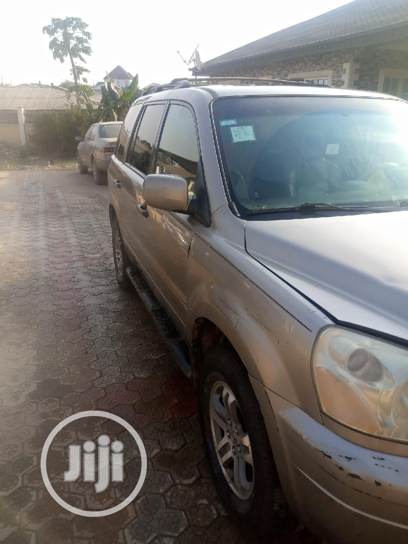 Honda Pilot 2003 EX-L 4x4 (3.5L 6cyl 5A) Gold | Cars for sale in Ibadan, Oyo State, Nigeria