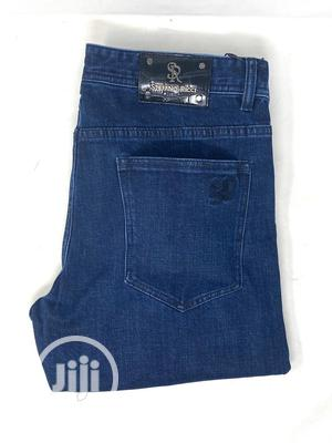 Stefaon Ricci Navy Blue Jeans Original | Clothing for sale in Lagos State, Surulere
