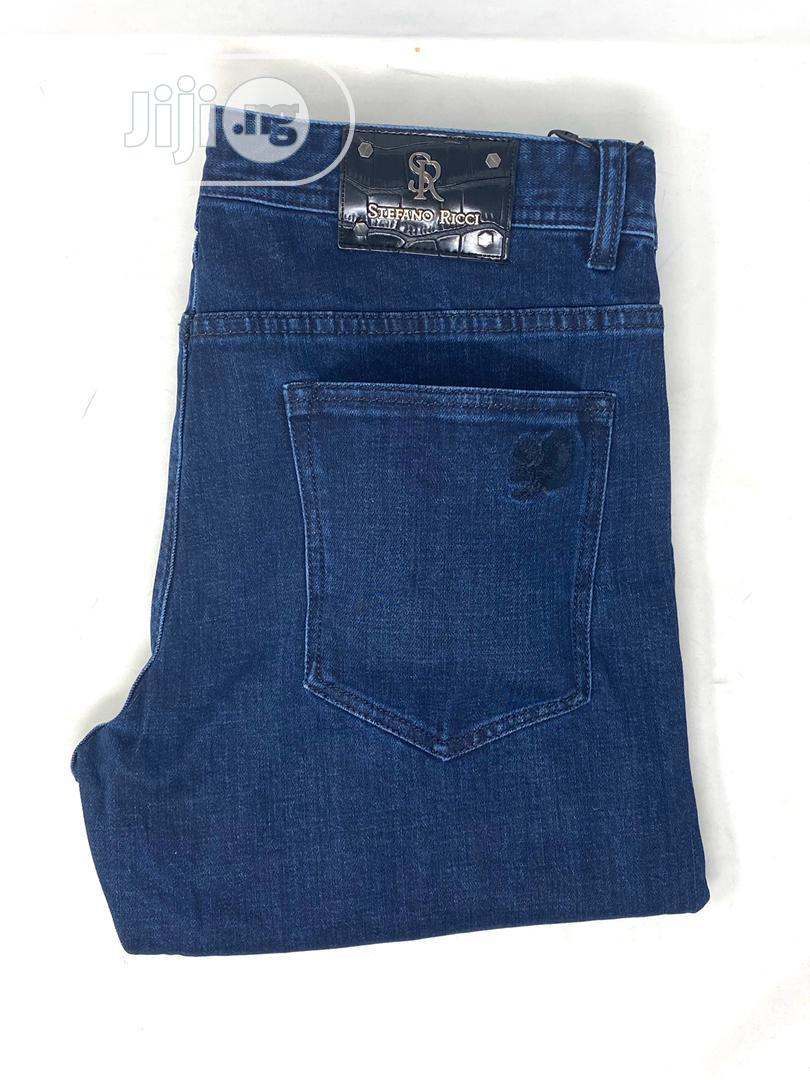 Stefaon Ricci Navy Blue Jeans Original