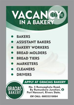 Bakers And Assistant Bakers wanted   Manufacturing Jobs for sale in Rivers State, Port-Harcourt
