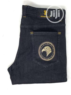 Original Stefaon Ricci Navy Blue Jeans | Clothing for sale in Lagos State, Surulere