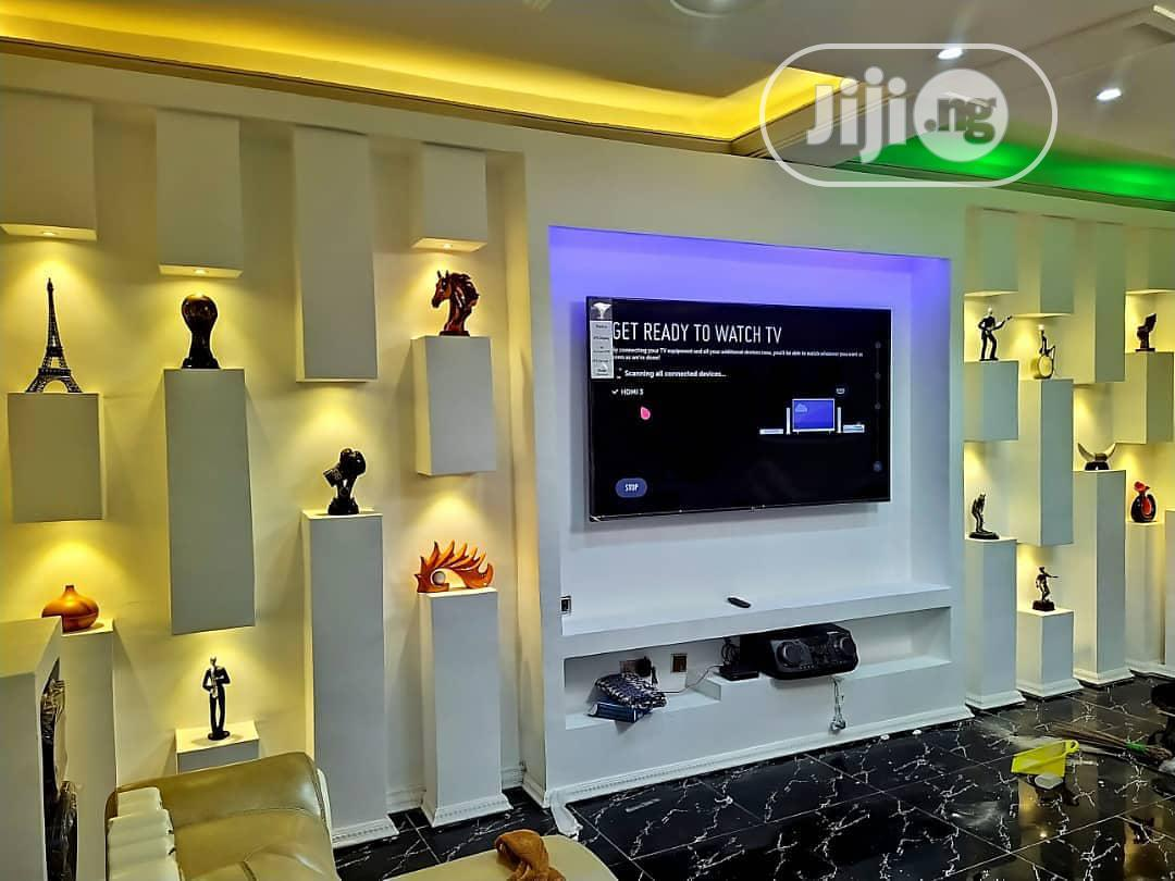 Archive: Ceiling Pop And Wall Screeding, TV Stand And Wall Designs.