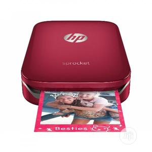 HP Sprocket Photo Printer - Red +10 Free Zink Sticky Paper | Printers & Scanners for sale in Ondo State, Akure