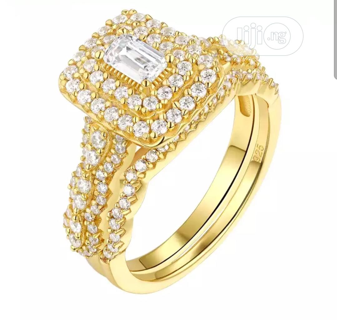 Hog Gold Colour S925 Silver Wedding and Engagement Ring   Wedding Wear & Accessories for sale in Owerri, Imo State, Nigeria