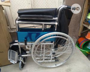 Steel Wheel Chair | Medical Supplies & Equipment for sale in Lagos State, Lagos Island (Eko)