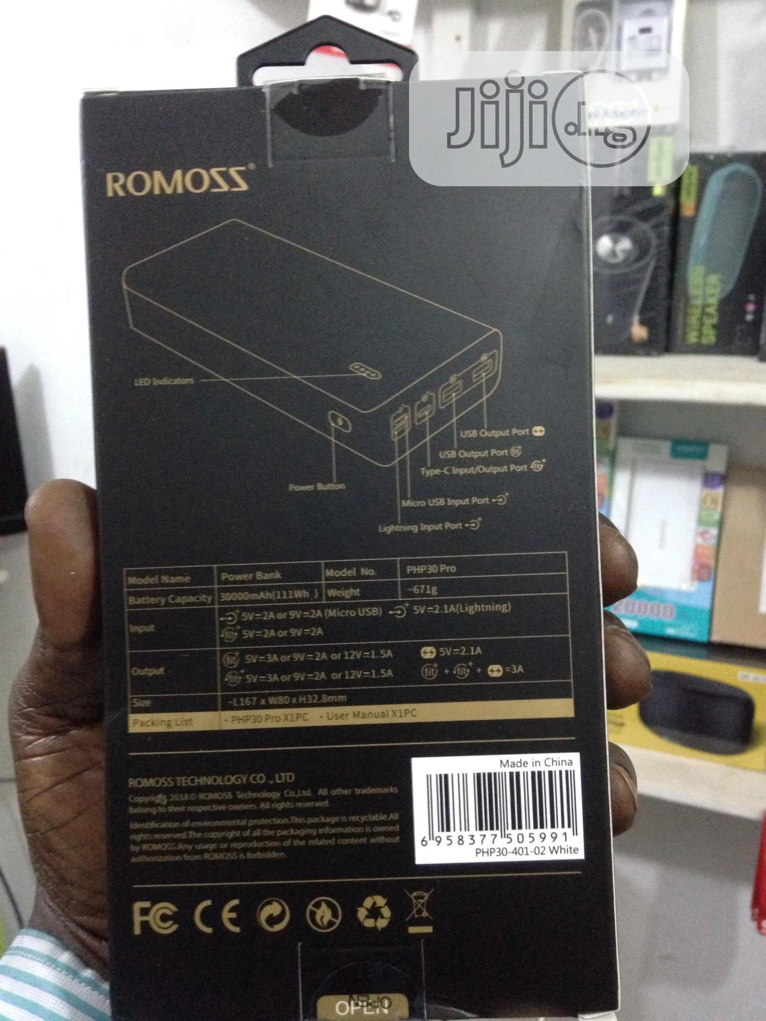 Romoss Power Bank 30000MAH | Accessories for Mobile Phones & Tablets for sale in Egbeda, Oyo State, Nigeria