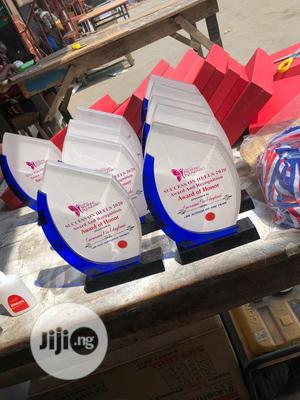 Acrylic Award With Blue Finish | Arts & Crafts for sale in Lagos State, Mushin