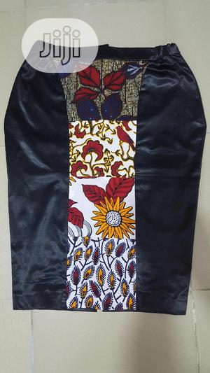 Ankara Patch Leather Skirt | Clothing for sale in Lagos State, Ikeja