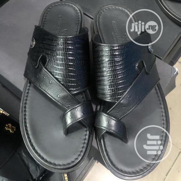 GIAMPIERO NICOLA Italian Leather Slippers
