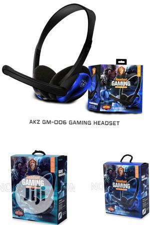 AKZ Gm-006 Gaming Headset. Gm 006 Gaming Headset.   Headphones for sale in Lagos State, Ikeja
