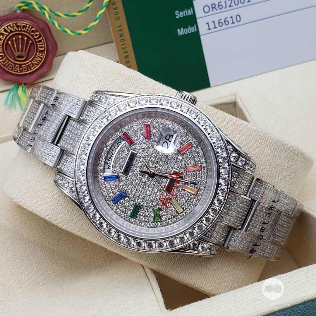 Rolex Date/Day Full Ice Diamond