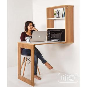 Foldable Wall Mounted Study Dining Table Storage Cabinet | Furniture for sale in Lagos State, Ikeja