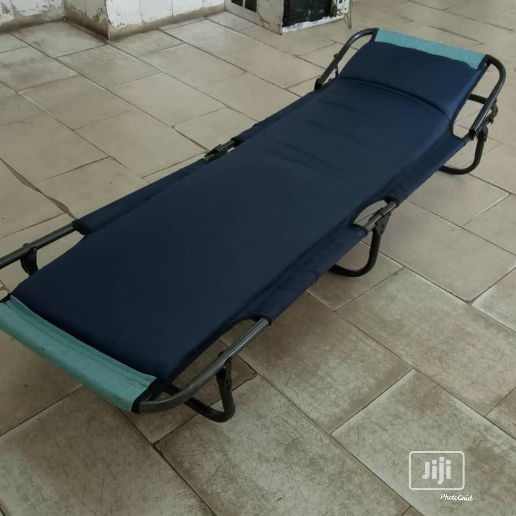 Black Adjustable Camp Bed