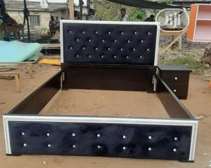 4 Half by 6 Bed Frame With Side Drawer   Furniture for sale in Lagos State, Ojo