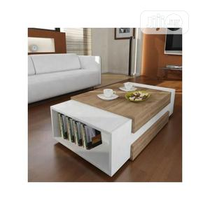 Coffee Table Chair Multipurpose Center Table With Book Shelf | Furniture for sale in Lagos State, Ikoyi