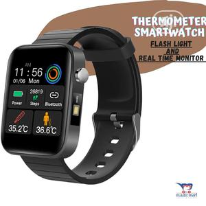 Thermometer Smartwatch + Flashlight | Smart Watches & Trackers for sale in Lagos State, Ikeja