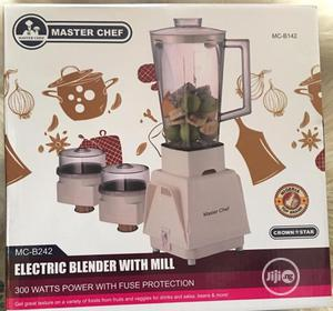 Master Chef Electric Blender With Mill | Kitchen Appliances for sale in Lagos State, Ifako-Ijaiye