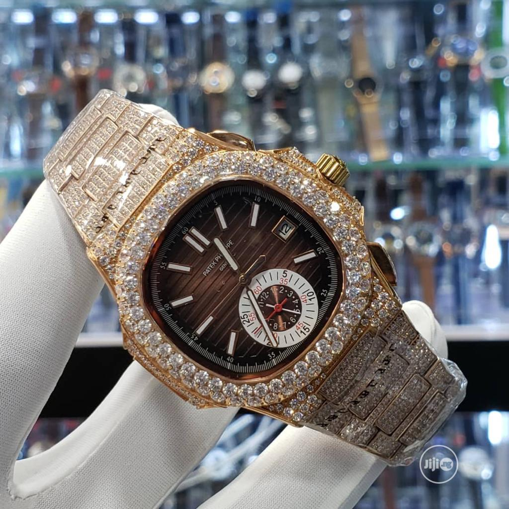 Archive: Exotic Patek Wristwatch, Iced All Over