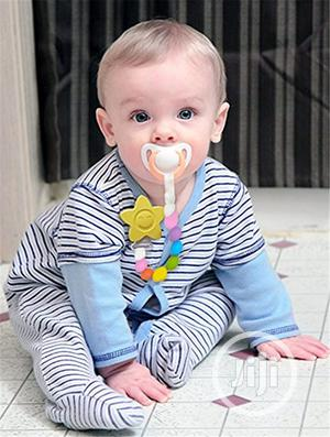 Cihoco Baby Soother Pacifier With Chain to Clip | Baby & Child Care for sale in Lagos State, Agege