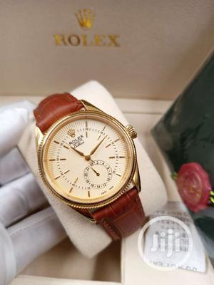 Rolex Gold Leather Strap Watch   Watches for sale in Lagos State, Lagos Island (Eko)