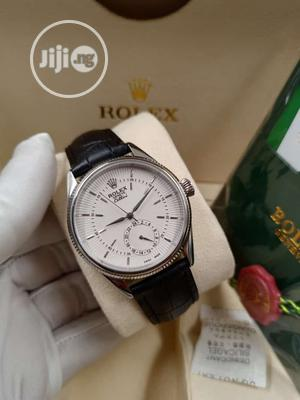 Rolex Silver Leather Strap Watch   Watches for sale in Lagos State, Lagos Island (Eko)