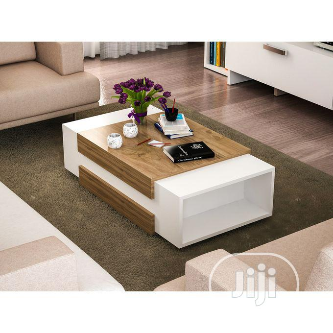 Multipurpose Coffee Table With Book Shelf Center Table