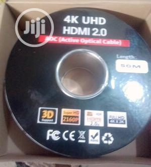 50meter 4K UHD Hdmi 2.0 Adc(Active Optical Cable)   Accessories & Supplies for Electronics for sale in Lagos State, Ojo