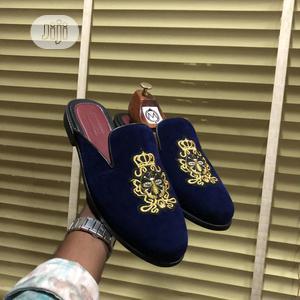 Blue Velvet Half Shoe   Shoes for sale in Lagos State, Mushin