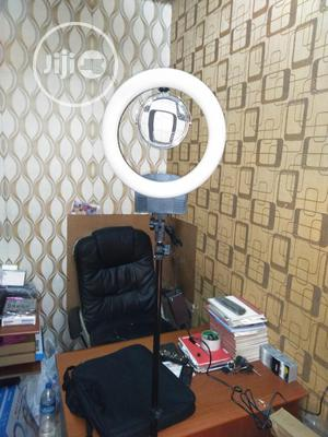 12inches Ring Light With Battery Space Mirror Rechargeable   Accessories & Supplies for Electronics for sale in Lagos State, Lagos Island (Eko)