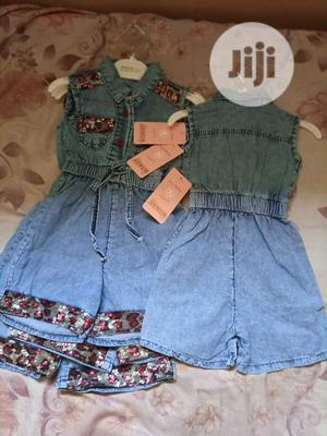Girls Denim Jumpsuit Rompers | Children's Clothing for sale in Lagos State, Alimosho
