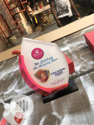 Acrylic Award With Red Finish | Arts & Crafts for sale in Lagos State, Mushin