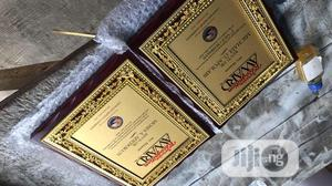 Wooden Plaque Award Goldern | Arts & Crafts for sale in Lagos State, Mushin