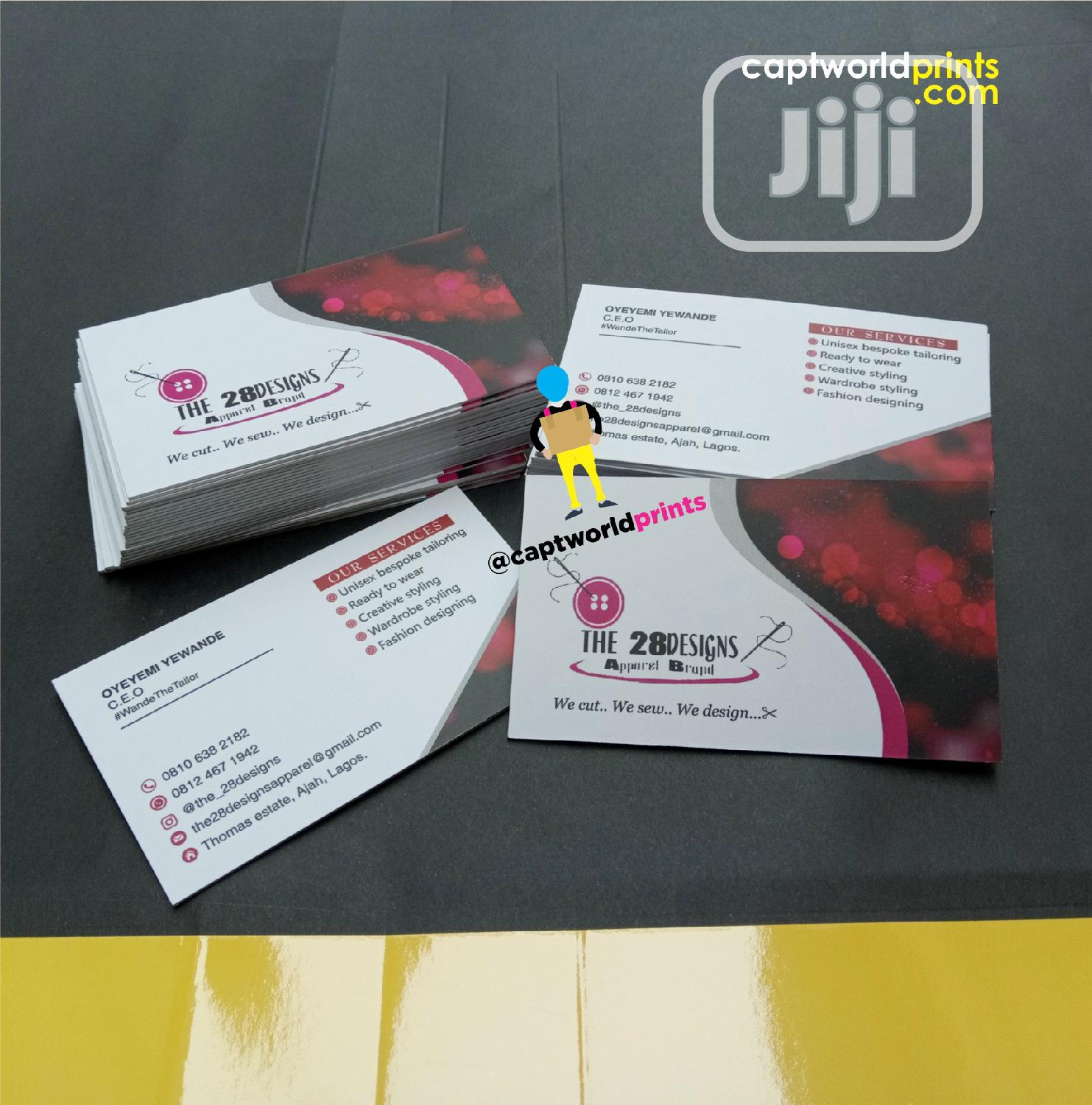 Complimentary Cards | Printing Services for sale in Shomolu, Lagos State, Nigeria