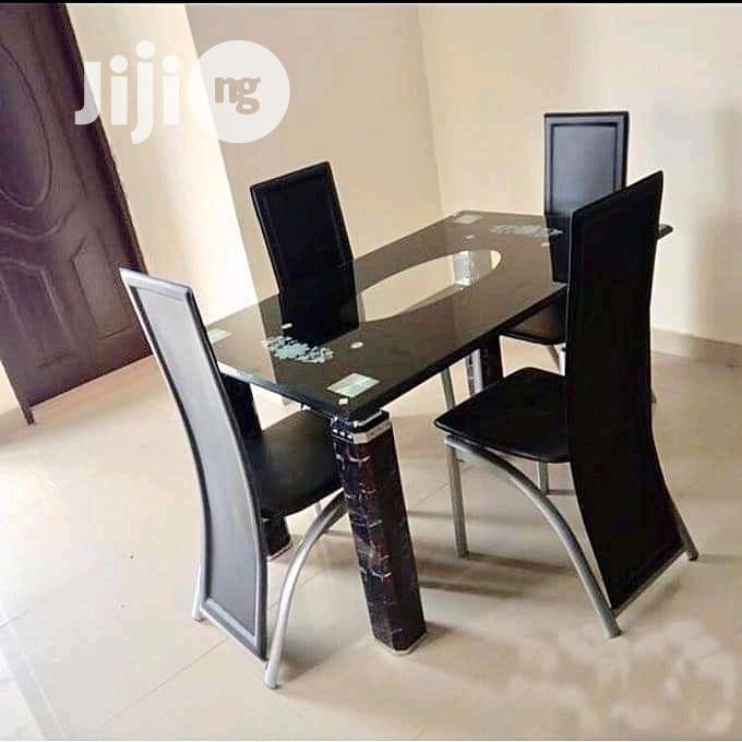 Archive: Glass Dinning Table With 4 Quality Chairs