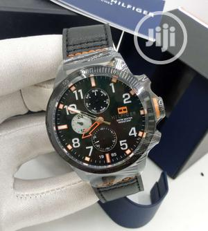 High Quality Tommy Hilfiger Leather Watch | Watches for sale in Lagos State, Magodo