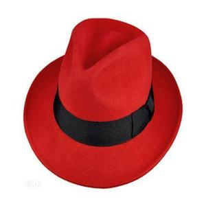 Men Fedora Hat -Red-X2   Clothing Accessories for sale in Lagos State, Abule Egba