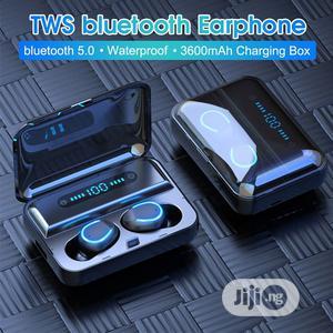 Bluetooth 5.0 Earphone Hi-Fi Waterproof LED Display Box   Headphones for sale in Lagos State, Alimosho